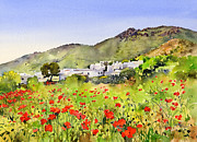 Margaret Paintings - Poppies at Las hortichuelas by Margaret Merry