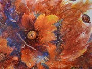 Ceramic Mixed Media - Poppies at Sunset 2 by Kathleen Pio
