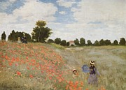 Impressionistic Paintings - Poppies Blooming by Extrospection Art