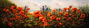 Hassam Framed Prints - Poppies by the Sea Framed Print by B Rossitto
