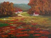 Poppies Field Painting Originals - Poppies by Ellen Ebert