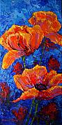 Red Poppies Paintings - Poppies II by Marion Rose