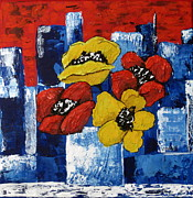 Susan McLean Gray - Poppies overlooking the...
