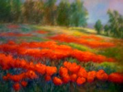 Patricia Lyle Prints - Poppies Print by Patricia Lyle