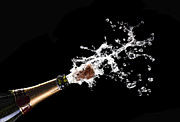 Uncork Photos - Popping Champagne Cork by Gualtiero Boffi