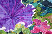 Singer Painting Originals - Popping Petunias by Debi Singer
