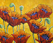 Original  By Artist Paintings - Poppy Craze by Prankearts by Richard T Pranke