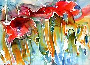Poppies Field Paintings - Poppy Field by Yevgenia Watts