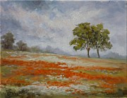 Poppies Field Paintings - Poppy fields by Irek Szelag