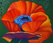 Red Poppies Pastels - Poppy Pleasure by Minaz Jantz