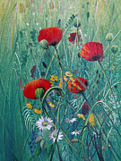 Jan Farthing Art - Poppydelight  by Jan Farthing