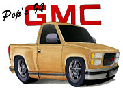 Gmc Mixed Media Posters - Pops GMC Poster by Lyle Brown