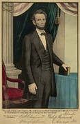 Popular Print Of President Abraham Print by Everett