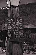 Touristy Prints - Population of Calico California Print by Susanne Van Hulst