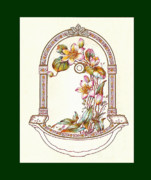 Mahogany Mixed Media Posters - Porcelain Wash Basin One Poster by Eric Kempson