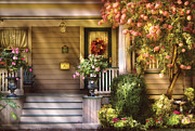 Miksavad Photos - Porch - Cranford NJ - Simply Pink by Mike Savad