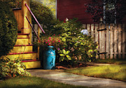 Grandpa Prints - Porch - Summer Retreat Print by Mike Savad