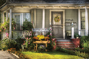 Realty Posters - Porch - Wetfield NJ - The house of an Angel Poster by Mike Savad