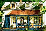 Front Porch Painting Framed Prints - Porch Framed Print by Art Scholz
