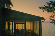 Finger Lakes Photos - Porch At Dawn by Steven Ainsworth