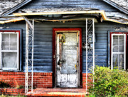 Old Abandoned Houses Posters - Porch of S Poster by Emily Stauring