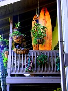 Sharon Farris Metal Prints - Porch Surf Metal Print by Sharon Farris