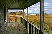 Sue Brehant Framed Prints - Porch View Framed Print by Sue  Brehant