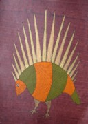 Gond  Drawings - Porcupine Bs 14 by Bhajju Shyam