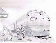 Train Station Drawings - Porquis Jct. by Peter Hamel