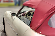 Red Fabric Art - Porsche 1600 SUPER 1959 fabric top and door. Miami by Juan Carlos Ferro Duque