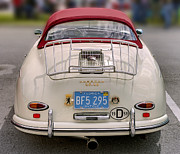 Motor Vehicles Framed Prints - Porsche 1600 SUPER 1959 rear view. Miami Framed Print by Juan Carlos Ferro Duque