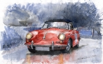 Red Prints - Porsche 356 B Roadster Print by Yuriy  Shevchuk