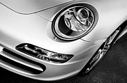 Left Framed Prints - Porsche 911 Black and White Framed Print by Paul Velgos