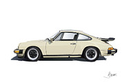 911 Digital Art Prints - Porsche 911 Carrera Print by Alain Jamar