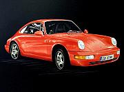 Sportscar Paintings - Porsche 911 by Manfred Burgard