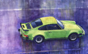 Green Metal Prints - Porsche 911 turbo Metal Print by Yuriy  Shevchuk