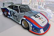 Racing Car Photographs Posters - Porsche 935 Moby Dick Poster by Stuart Row