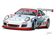 German Race Car Prints - porsche 997 GT3 CUP Print by Alain Jamar
