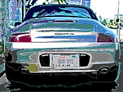 Sam Sheats Framed Prints - Porsche Carrera Rear Study Framed Print by Samuel Sheats