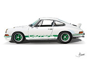 Alms Prints - Porsche Carrera Rs Print by Alain Jamar