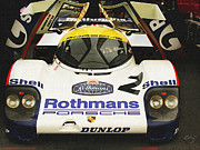 Indy Car Framed Prints - Porsche Rothmans 956 1982 Framed Print by Curt Johnson