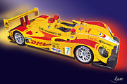 Michelin Framed Prints - porsche RS Spyder Framed Print by Alain Jamar
