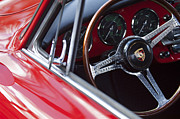 Porsche Prints - Porsche Steering Wheel 2 Print by Jill Reger