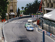 Michelin Framed Prints - Porsches at Monte Carlo Casino Square Framed Print by John Bowers