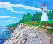 Quebec Mixed Media - Port Daniel Lighthouse by Alyson Champ