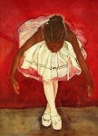 Child Ballerinas Prints - Port de bras Forward Print by Amira Najah Whitfield