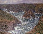 Breton Posters - Port Domois at Belle Ile Poster by Claude Monet