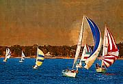 Race Digital Art Originals - Port Huron Sailboat Race by Paul Bartoszek