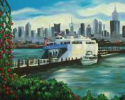 New Jersey Painting Originals - Port Imperial by Milagros Palmieri