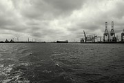 Cranes Framed Prints - Port-Industrial 2 - Port Landscape Framed Print by Dean Harte